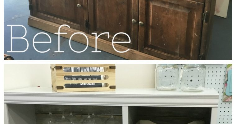 Upcycled Entertainment Center – Winebar